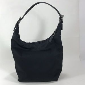 Coach Mercer Small Black Nylon Hobo Purse C1K-7423